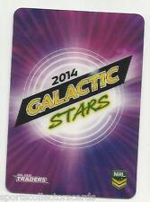 2014 NRL TRADERS ESP 3D GALACTIC STARS COVER CARD AGS14 ALBUM CARD