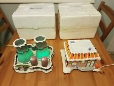 2 Vintage Simpsons Christmas Village Ornaments Krusty Burger Nuclear Power Plant