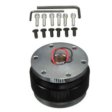 Car Black Steering Wheel Quick Release Hub Adapter Snap Off Boss Kit Well Made