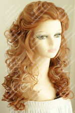 2018 new wig Strawberry Blonde Fluffy curly hair wave of fashionable women wig