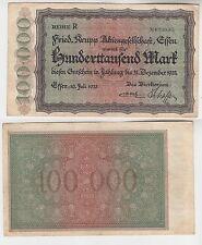 100000 Mark Banknote Stadt Essen Fried.Krupp 10.7.1923 (112933)
