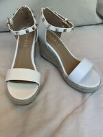 Esprit Wedge Espadrille Heels Sandal  Shoes White ~Size 7M