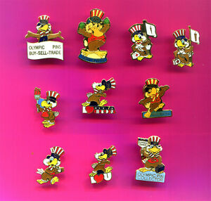 1984 OLYMPIC PIN SAM THE EAGLE MASCOT PINS - BADGES  PICK 1-2-3 ALL ADD TO CART