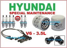 03-05 XG350 V6-3.5L TUNE UP KITS: SPARK PLUGS, WIRE SET; OIL & FUEL FILTER