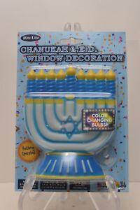 Rite Lite Chanukah LED Window Decoration Battery Operated NIP Menorah Hanukkah