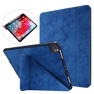 "For iPad Pro 11"" 10.2"" 8th 2020 7th 6th 9.7"" Leather Smart Case + Pencil Holder"
