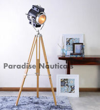 Hollywood Studio Searchlight Floor Lamp With Stand Tripod Spot Light Vintage E27