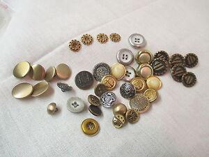 13mm Botones De Caña Floral Oro Antiguo Latón Antiguo O Gris