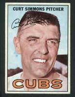 1967 Topps #39 Curt Simmons EX/EX+ Cubs 57296
