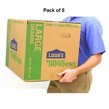 Pack Of 5 Large Cardboard Boxes 24 X 18 Moving Plain Shipping Packing Supplies