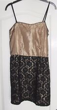 Glamorous black and gold party dress size 10