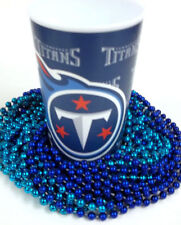 Tennessee Titans 22 oz Cup 12 Mardi Gras Beads Blue Tailgate Party