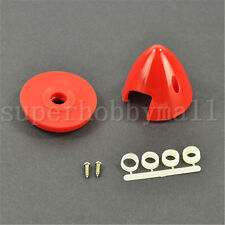 1x Haoye Red/White 2Blade Propeller Plastic Spinner 2inch/50.8mm For RC Airplane