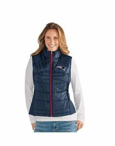 G-III 4her New England Patriots Women's Wing Back Jacket Vest - Navy