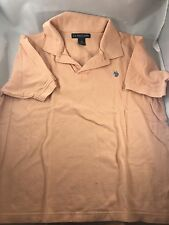Men's US Polo ASSN Men's Peach  Short Sleeve Polo Size M Free Fast Shipping