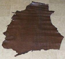 (OIE8677-1) Hide of Dark Brown Printed Lambskin Leather Hide Skin