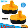 New 18V DC9096-2 For DeWALT DC9096 18-Volt XRP Ni-Mh Battery DW9098 DC9099 - 2pk