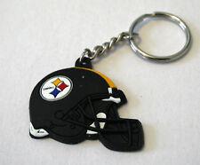 Pittsburgh Steelers Helmet Laser Engraved Durable Rubber Sport NFL Key Chain