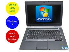 Dell Laptop Windows 7 PC Latitude E6430 i7 2.9GHz 8GB Ram New 500GB HDD