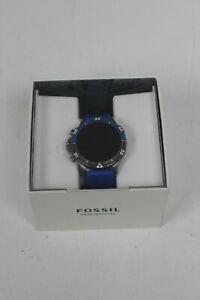 Fossil, Smart Watch (DW10F2), Blue Wristband & Dark Silver Case
