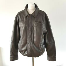 """Williams and Brown Men's Leather Quilted Lined Bomber Jacket M 39 - 41"""" Chest"""