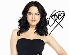 Elizabeth Gillies Victorious Signed 8X10 Photo Rp Sexy Black Dress Jade West