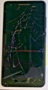 READ FIRST Nokia 6 (VERIZON) Cell Phone Black Fast Shipping cracked Used