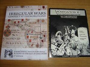 2 wargame rules books job lot Warhammer 1st edition Irregular wars renaissance