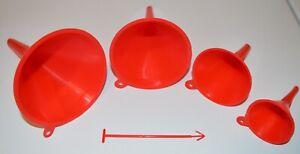4 PIECE FUNNEL SET Garden Kitchen Home Auto Tools Water Engine Oil Fluid Liquid