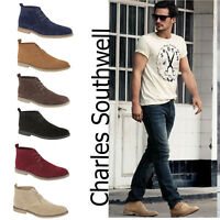 MENS SUEDE CASUAL LACE UP OFFICE WORK BOOTS SMART ANKLE DESERT TRAINERS SHOES