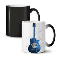 Guitar Planet Earth NEW Colour Changing Tea Coffee Mug 11 oz | Wellcoda
