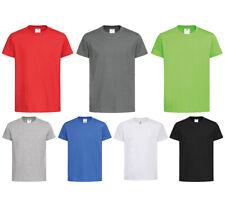 Organique T-Shirt Bio Coton Chemise Col Rond Uni Basic Garçons Filles