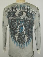Affliction Rush Georges St-Pierre UFC MMA Reversible L/S Thermal Shirt Men XL