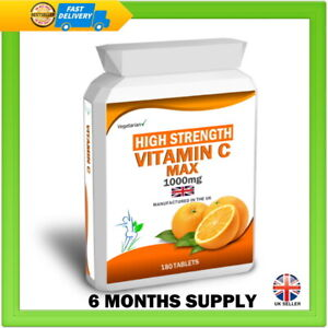 Vitamin C 1000mg Bioflavonoids 180 Tablets High Strength Immune Health Support