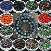 Round 10MM Gemstone Lot Stone 6MM Loose Beads Spacer Wholesale 4MM 8MM Natural