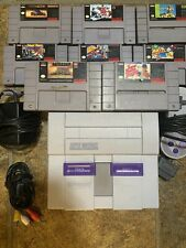 Nintendo Entertainment System Gray Home Console 8 Games. Snes Has Been Tested.