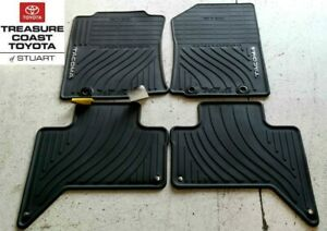 NEW OEM TOYOTA TACOMA 2012-2014 DOUBLE CAB ALL WEATHER FLOOR MATS