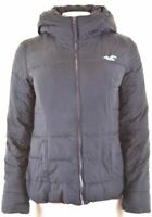 HOLLISTER Womens Padded Jacket Size 10 Small Navy Blue Polyester  GE10