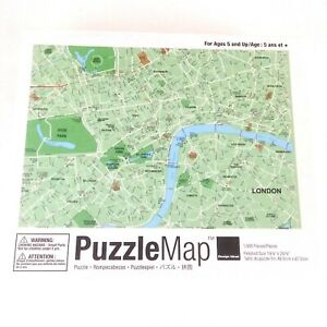 PuzzleMap 1000 Piece Jigsaw Puzzle London Street Map Design Ideas