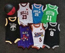 Au Stock Baby Bulls basketball jersey infant  romper Jumpsuit Jersey