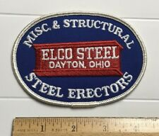 Elco Steel Dayton Ohio Structural Steel Erectors Embroidered Patch