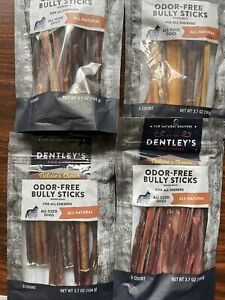 """Odor-free Bully Sticks NEW SEALED"""" EXP:2024. 4 Packs.20 Count"""