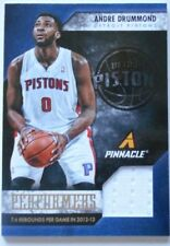2013-14 Andre Drummond Pinnacle Performers Basketball Patch Card Detroit pistons