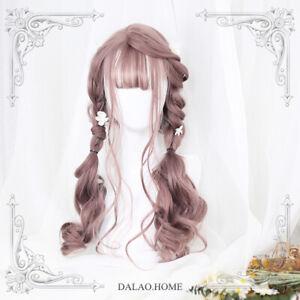 Harajuku Sweet Lolita Cosplay Princess Long Curly Hair Girl Daily Wig Hairpiece