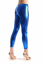 Blue Shiny Faux Leather Wet Look With Side Zip (L000288)