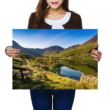 HONISTER PASS LAKE DISTRICT WALL ART LARGE A1 POSTER 33 X 23 INCH