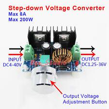 DC-DC Buck Converter 4V-40V to 1.2V-36V 8A 100W Step-Down Voltage Power Module