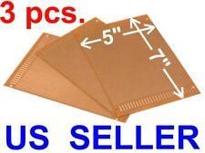 3 Pcs 5x7 12x18cm Prototyping Pcb Printed Circuit Board Prototype Breadboard