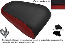 DARK RED & BLACK CUSTOM FITS YAMAHA MT 03 06-13 REAR LEATHER SEAT COVER