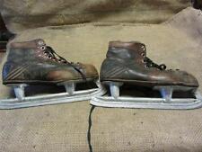Vintage Leather Spalding Ice Skates > Old Antique Skate Board Roller 8351